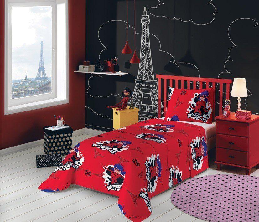 Jogo de cama Miraculous: As Aventuras de Ladybug  2 Peças 059104 | Lepper