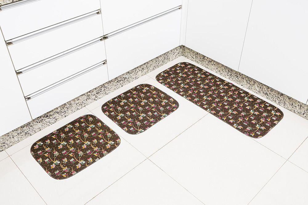 Jogo de Tapetes para Cozinha Silver Antimofo e Antiderrapante | Tapetes Júnior