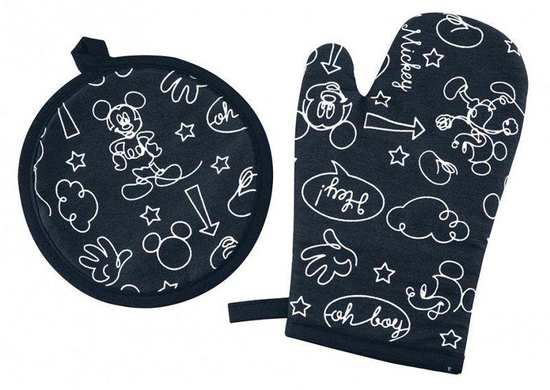 Kit 2 Pecas Mickey e Minnie 1 Luva + 1 Pega Panela   Lepper