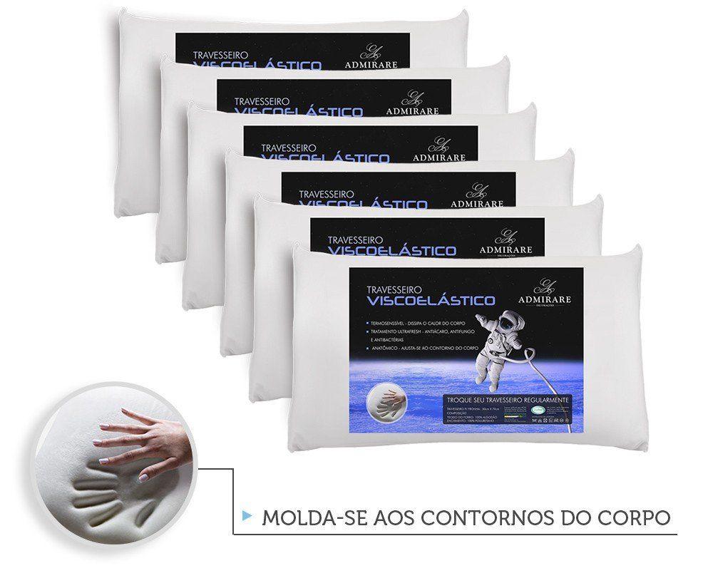 Kit 6 Travesseiros Antialergico Viscoelastico Nasa | Admirare