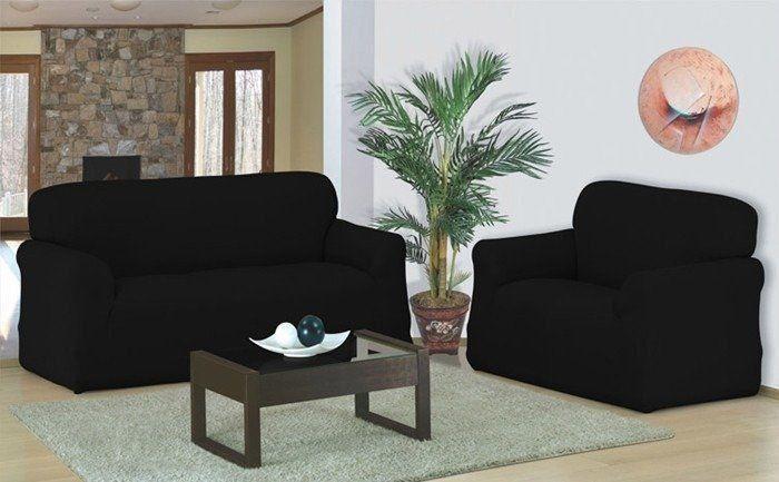Kit Capa Sofa 2 E 3 Lugares Em Malha C/ Franja