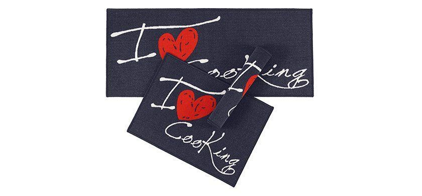 Kit Tapete Cozinha Gourmet 3 Pecas Love Corttex Casa