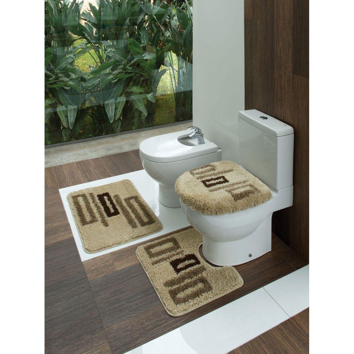 Kit Tapete de Banheiro 3 Pçs Jolitex - Pistas