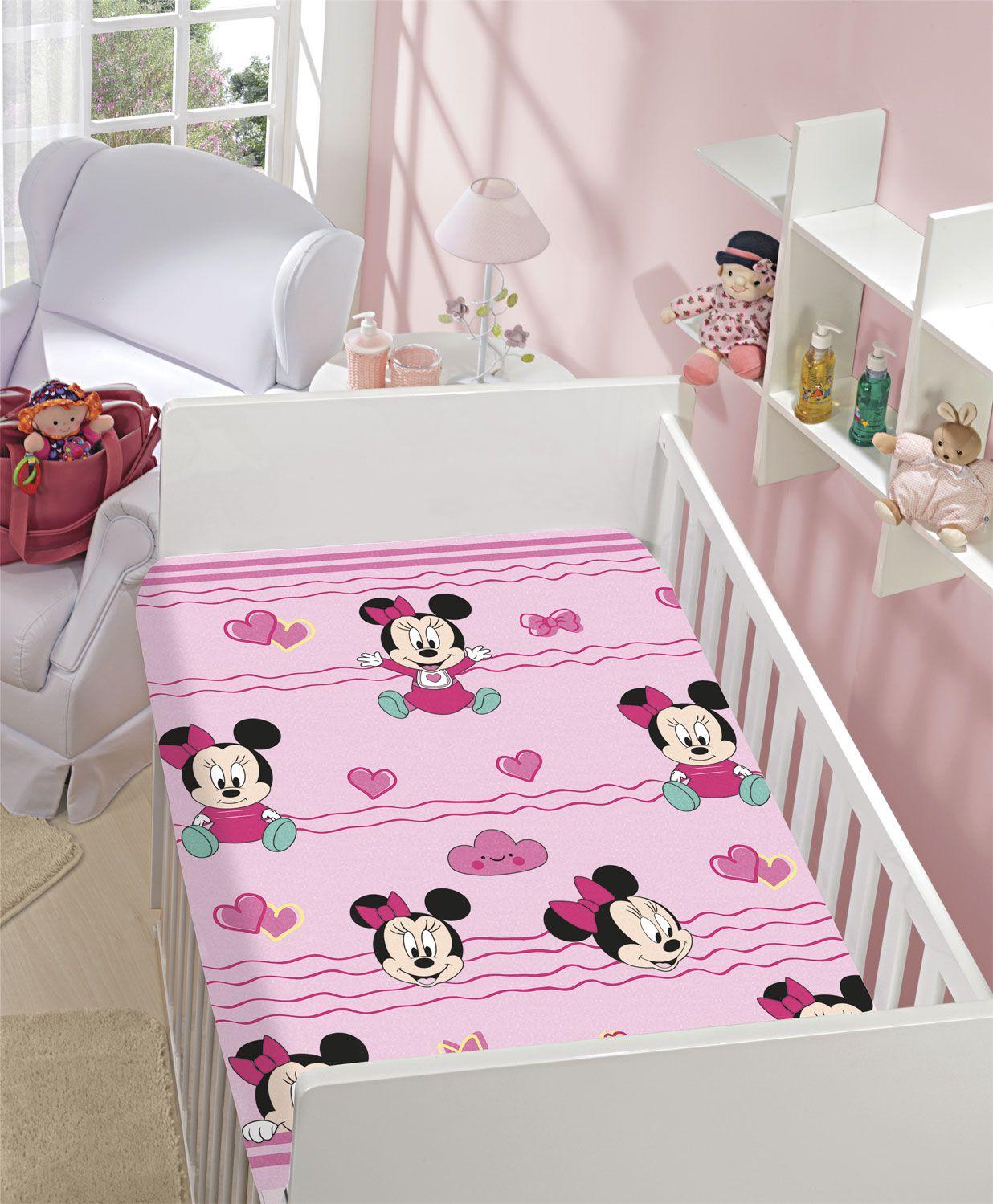 Manta Minnie Disney Baby Microfibra com toque Soft Jolitex