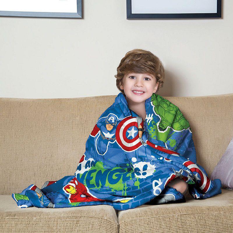 Manta Fleece de Sofa Avengers 1,25m x 1,50m Lepper