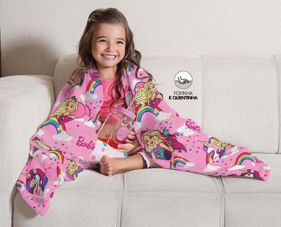 Manta Fleece de Sofá Barbie Reinos Mágicos 1,25 x1,50 Lepper