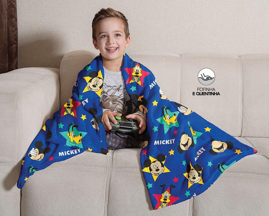 Manta Fleece de Sofá Mickey 1,25m x 1,50m Lepper