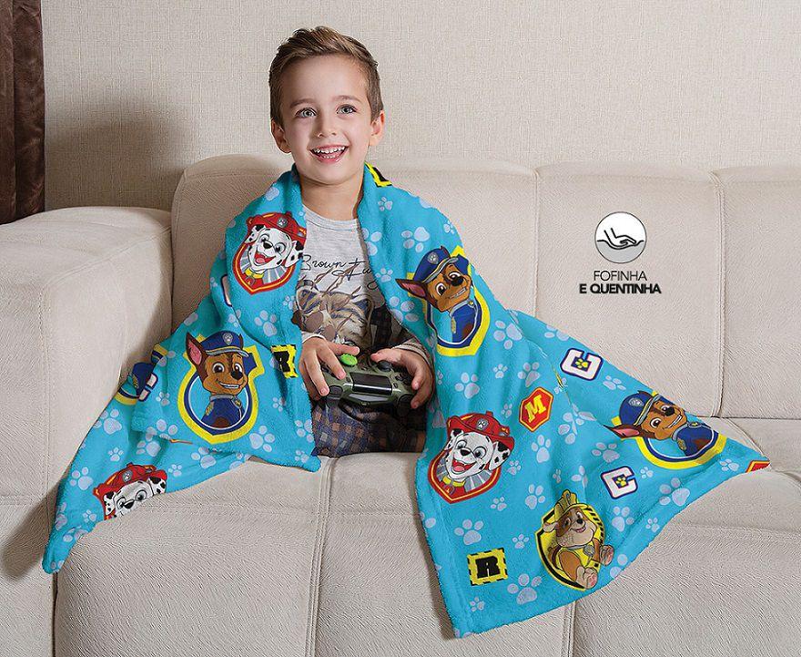 Manta Fleece de Sófa Patrulha Canina Menino 1,25x 1,50m Lepper