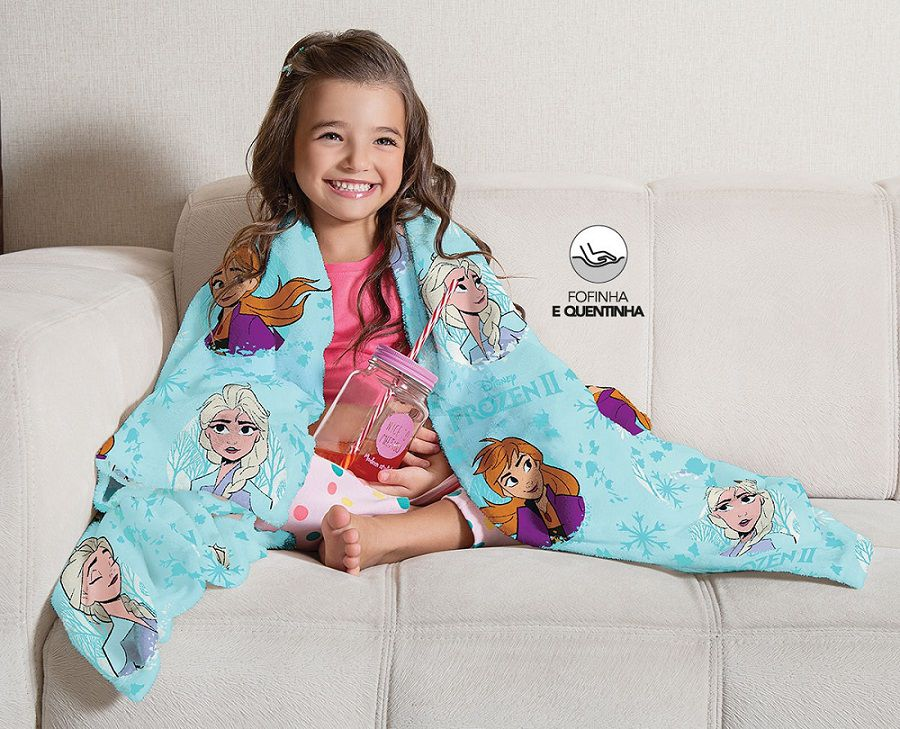 Manta Frozen Fleece de Sofá 1,25m x 1,50m Lepper
