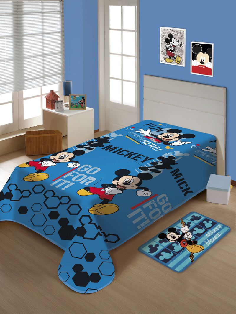 Manta Jolitex Infantil Soft Mickey Toque Macio