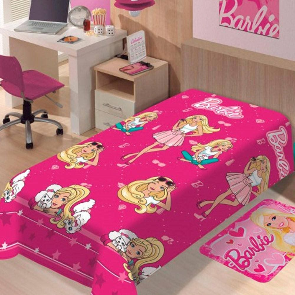 Manta Microfibra Mattel soft Barbie Fashion | Jolitex