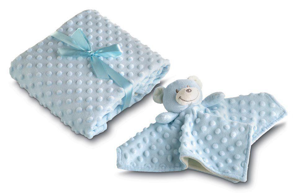 Manta para Bebê fleece dupla face com naninha Mini Com 2 peças | Lepper