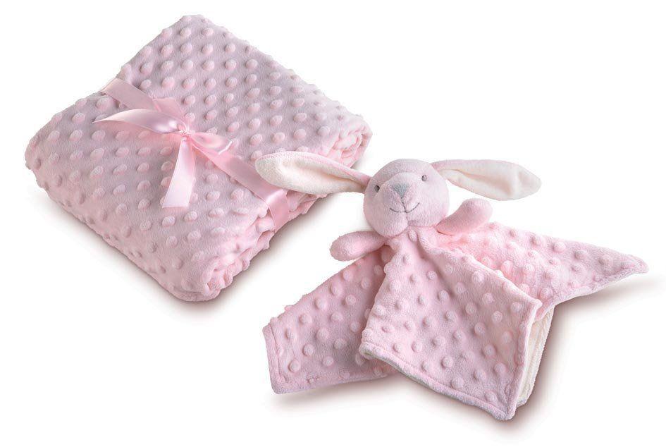 Manta para Bebê fleece dupla face com naninha Mini Com 2 peças   Lepper