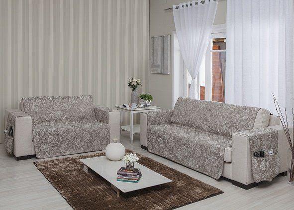 Protetor de sofá 2 e 3 Lugares Cristal - MC Cortinas