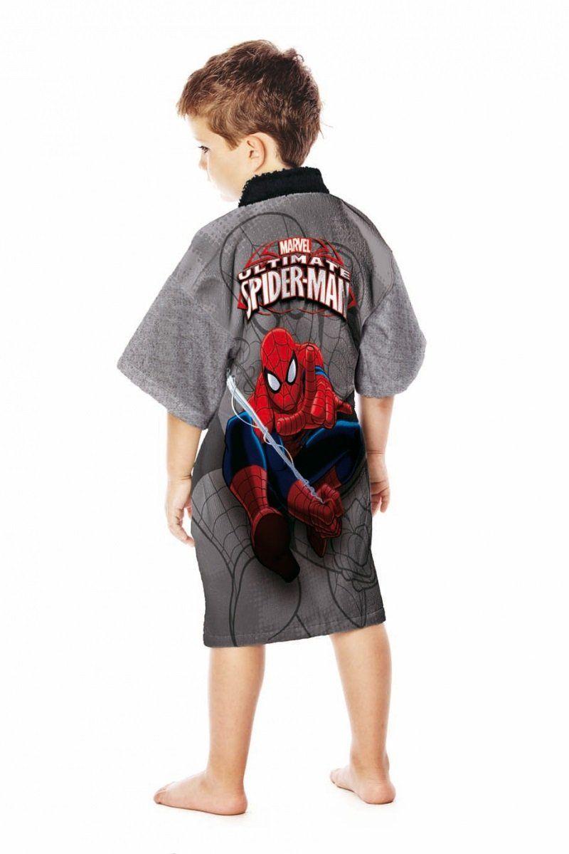 Roupão Aveludado Spider Man Ultimate   Lepper