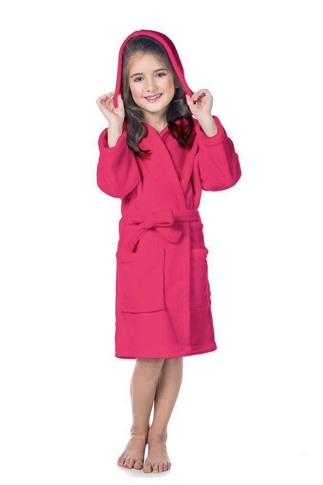 Roupão Infantil Fleece Quimono com Capuz Color | Lepper