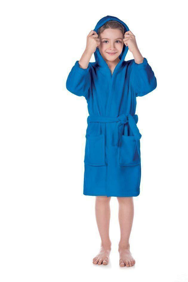 Roupão Infantil Fleece Quimono Com Capuz Color - Lepper