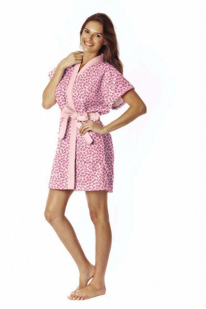 Roupão Oncinha Pink M Verão - Lepper