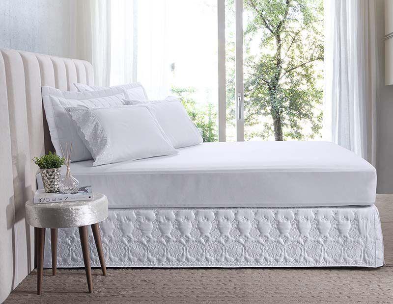 Saia para cama box Casal Florata | Hedrons