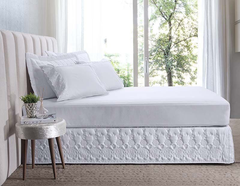 Saia para cama box King Florata | Hedrons