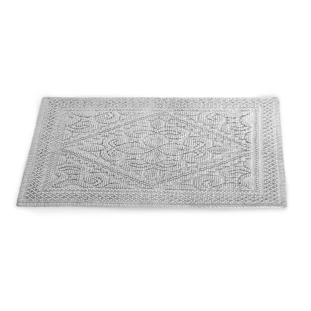 Tapete Artesano 60x43cm 100% Algodão - Camesa Branco