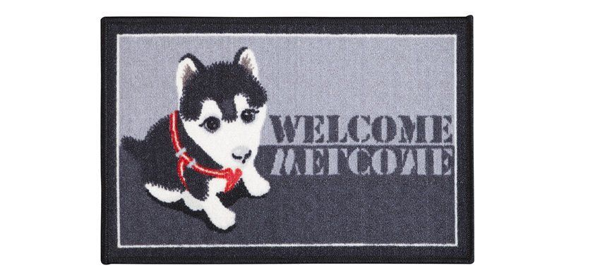 Tapete de Porta 40x60 cm Pet Husky  Corttex
