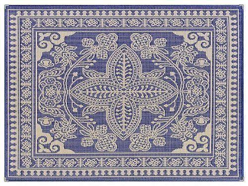 Tapete De Sala Azul 1,50x1,00 Sisal Sislle - Lancer -S298