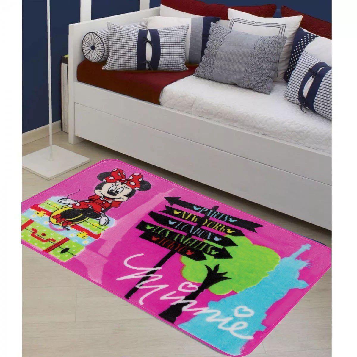 Tapete Orient Disney 70 x 110 cm Minnie Viagem   Jolitex