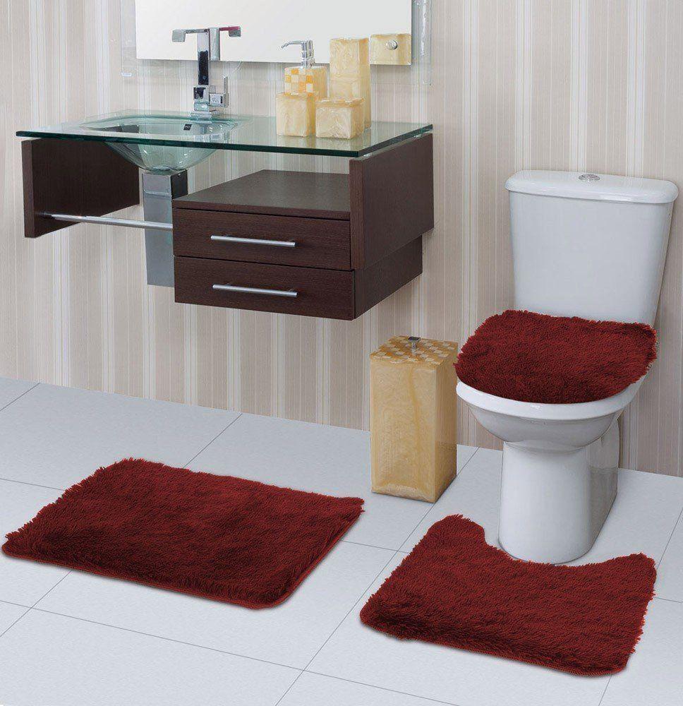 Tapete para banheiro Bella Pelo Alto  3 Peças   Jolitex