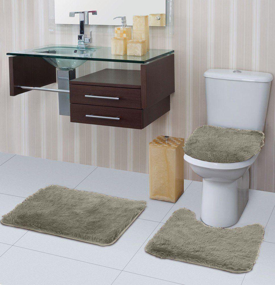 Tapete para banheiro Bella Pelo Alto  3 Peças | Jolitex