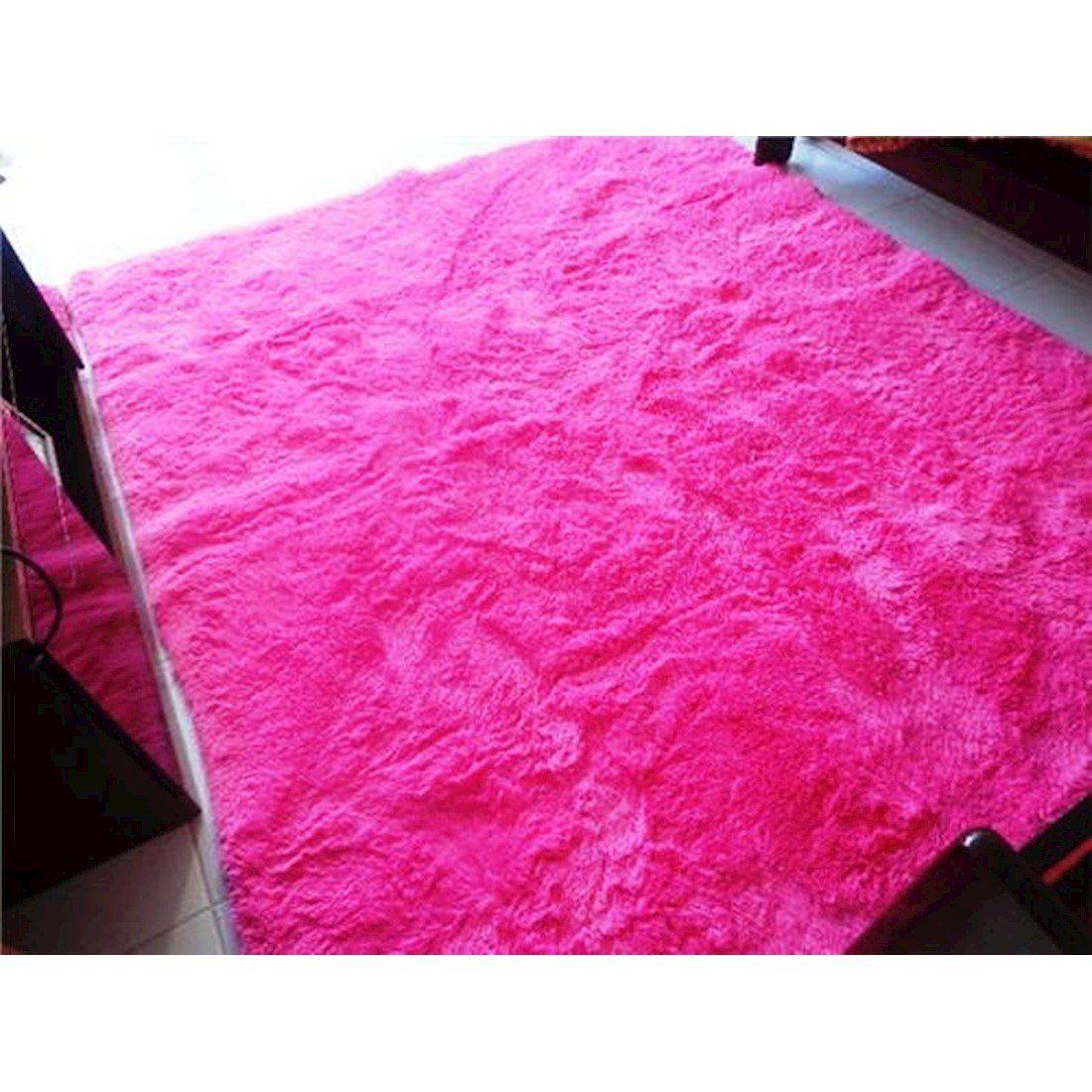 Tapete Peludo Apolo 150x200 Pink  Prata Têxtil