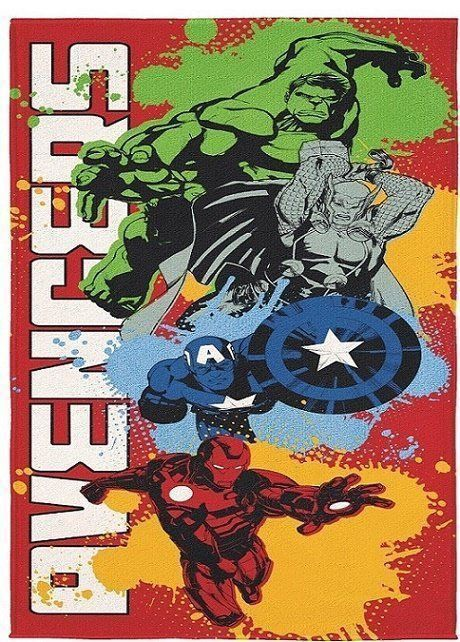 Toalha Aveludada Avengers 70cm x 1,40m - Lepper