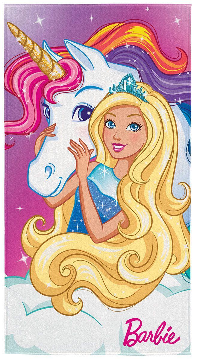 Toalha Aveludada Barbie Reinos Mágicos Com 1 Pç