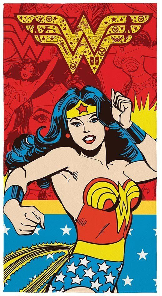 Toalha Aveludada Estampada Liga da Justiça Mulher Maravilha 061258 | Lepper