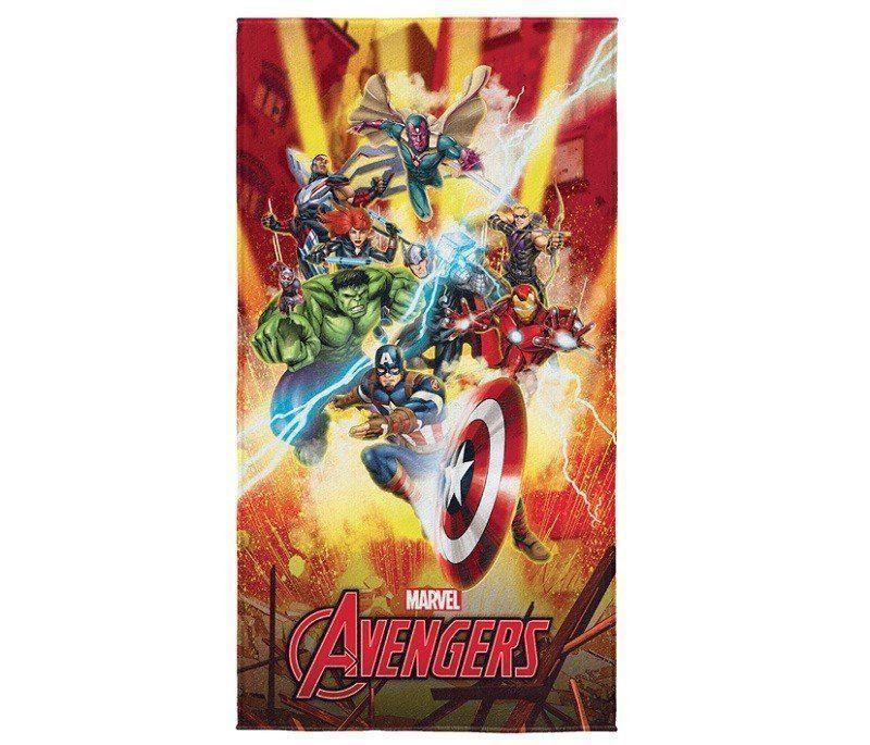 Toalha de Banho Aveludada Transfer Avengers 75x140 cm