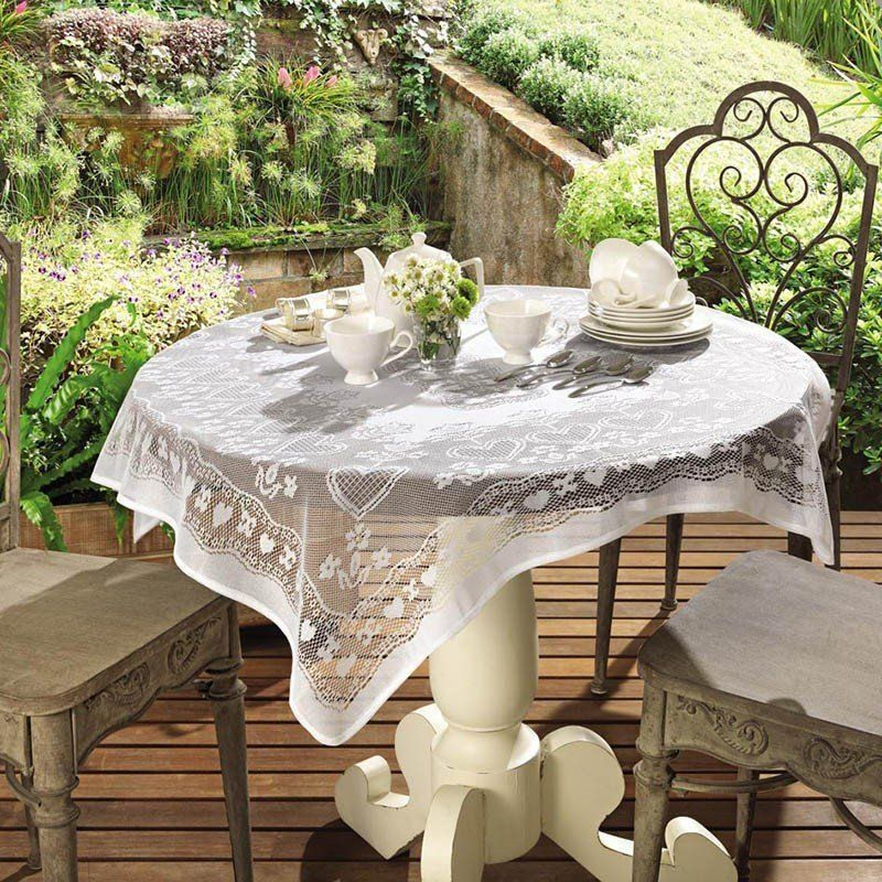 Toalha de mesa de Crochê Topper Lace 100 x 100 cm   Lepper