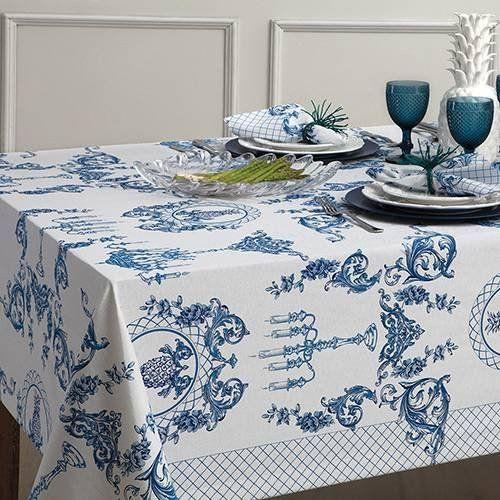 Toalha de Mesa 6 Lugares Impermeável Naturalle Fashion 1,8 x 2,2 | Sultan