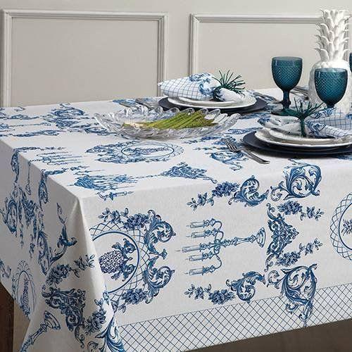 Toalha de Mesa 8 Lugares Impermeável Naturalle Fashion 1,8 x 2,5| Sultan