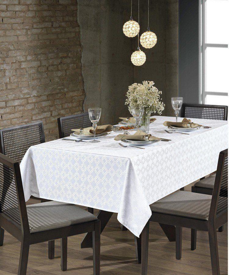 Toalha de mesa Requinte em Jacquard 4 Lugares Dohler
