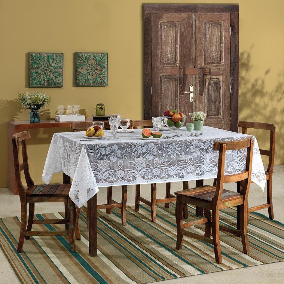 Toalha de mesa Retangular 6 lugares de Crochê Realeza 1,50 x 2,10 m | Lepper