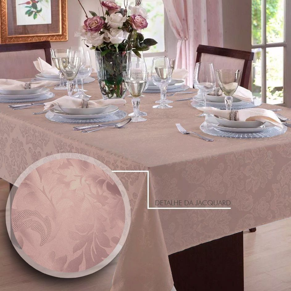 Toalha de mesa Retangular em Jacquard para 10 lugares | Admirare