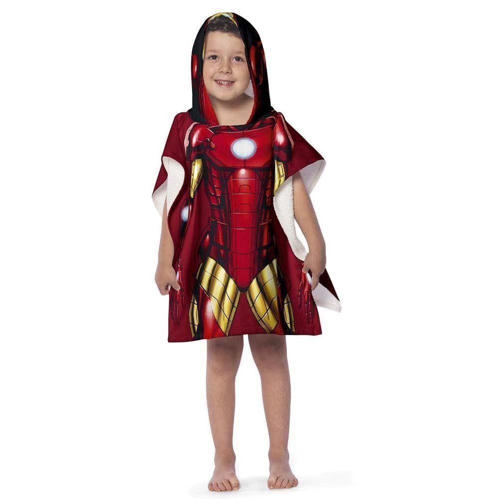 Toalha Poncho com capuz Avengers Iron Man    Lepper
