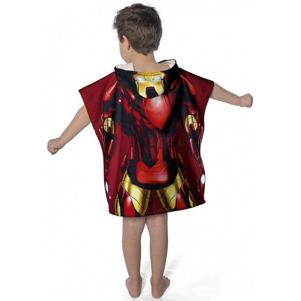 Toalha Poncho com capuz Avengers Iron Man |  Lepper