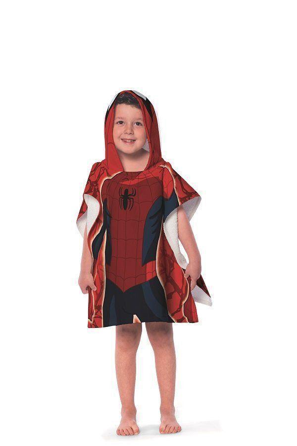 Toalha Poncho Com Capuz Spider Man | Lepper