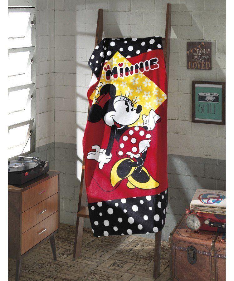 Toalha Velour Minnie Mouse Disney 100% Algodão | Dohler