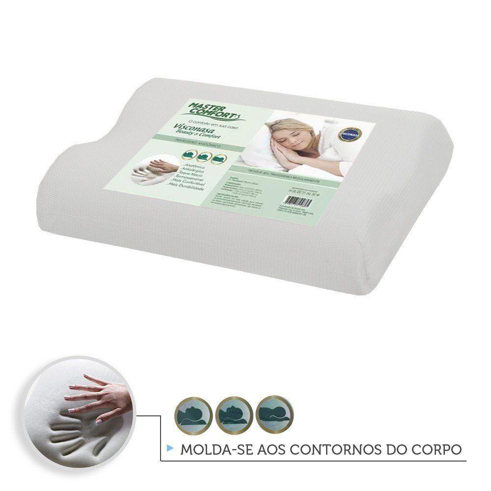Travesseiro Anatômico Nasa Antialérgico   Master Comfort