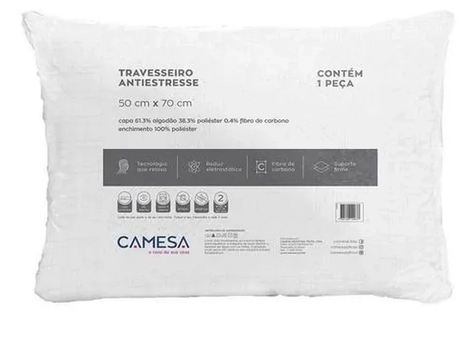 Travesseiro Anti stress 50x70 Super Macio Camesa