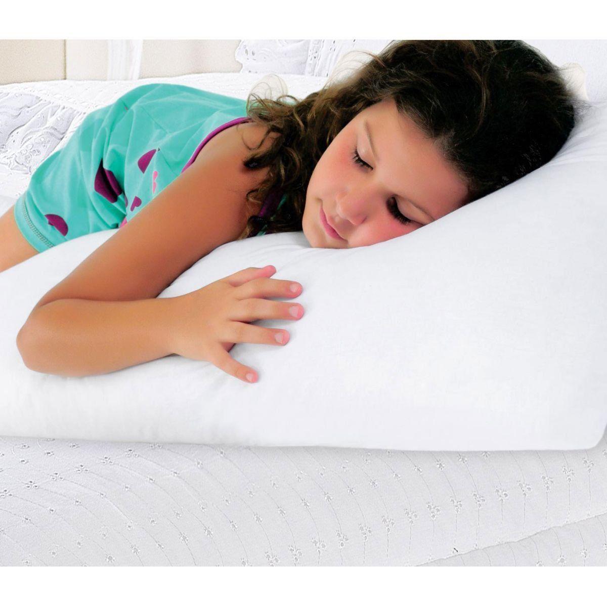Travesseiro de Corpo Gigante Branco   Pano Bordado