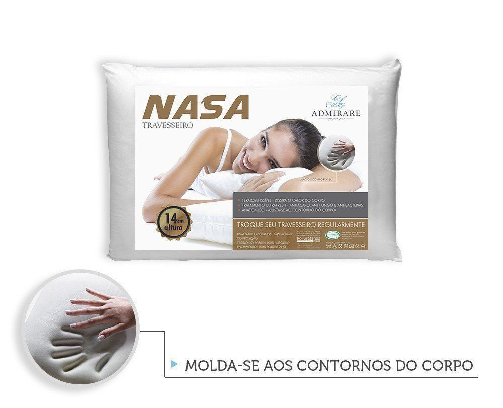Travesseiro Antialergico Nasa 14 cm | Admirare