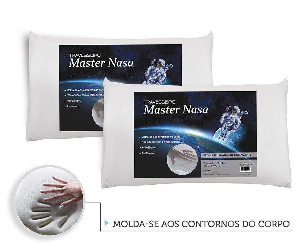 Travesseiro Nasa Kit 2 Pecas - Antialergico - Toque Macio